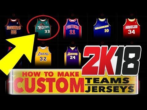 NBA 2K18 • HOW TO MAKE CUSTOM JERSEYS & TEAMS • PS4 PRO