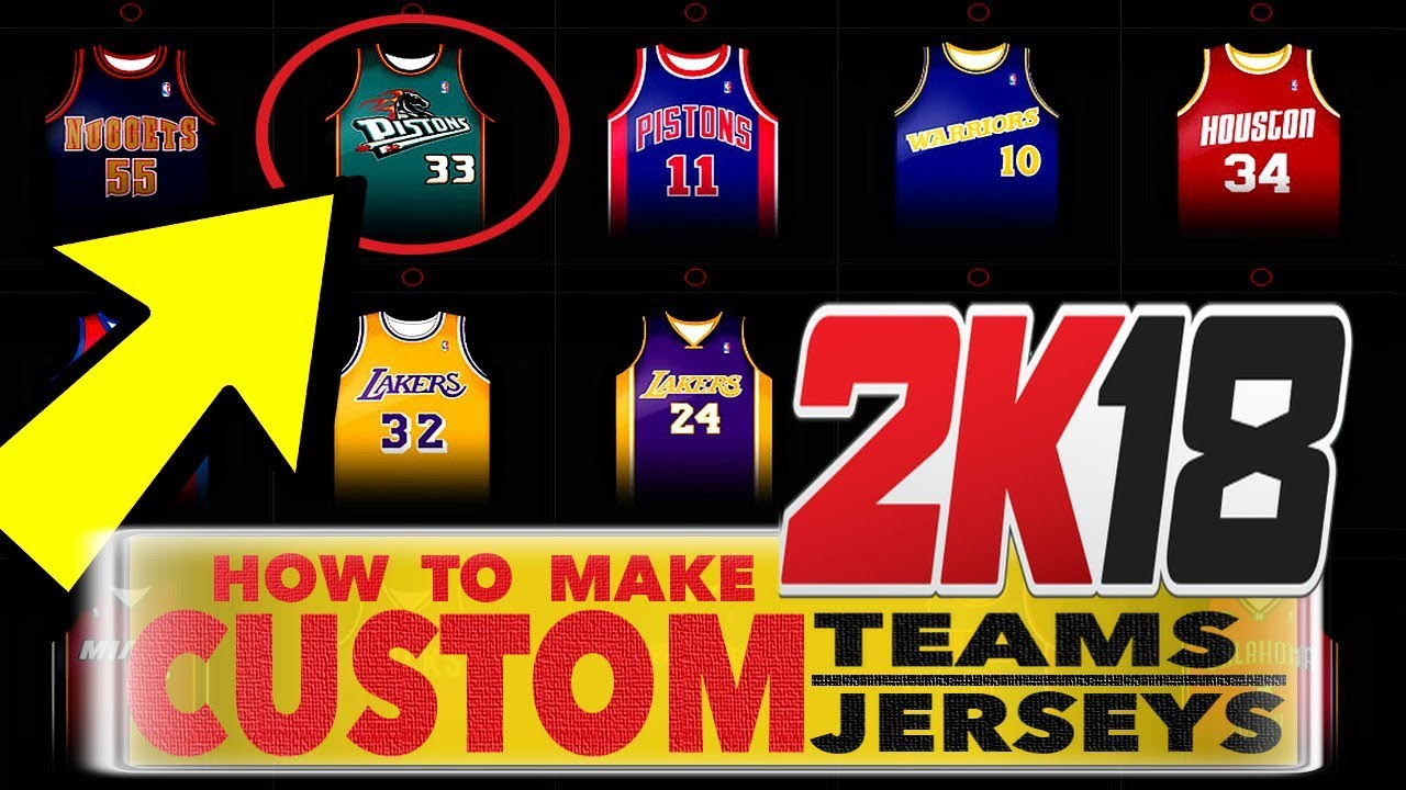 b077e88d9c1 NBA 2K18 • HOW TO MAKE CUSTOM JERSEYS   TEAMS • PS4 PRO - YouTube