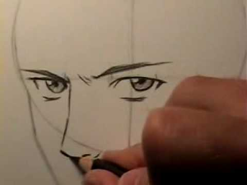 How to draw a realistic manga face htd video 15