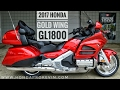 2017 Honda Gold Wing Walk-Around Video   Candy Red GL1800 Touring Motorcycle