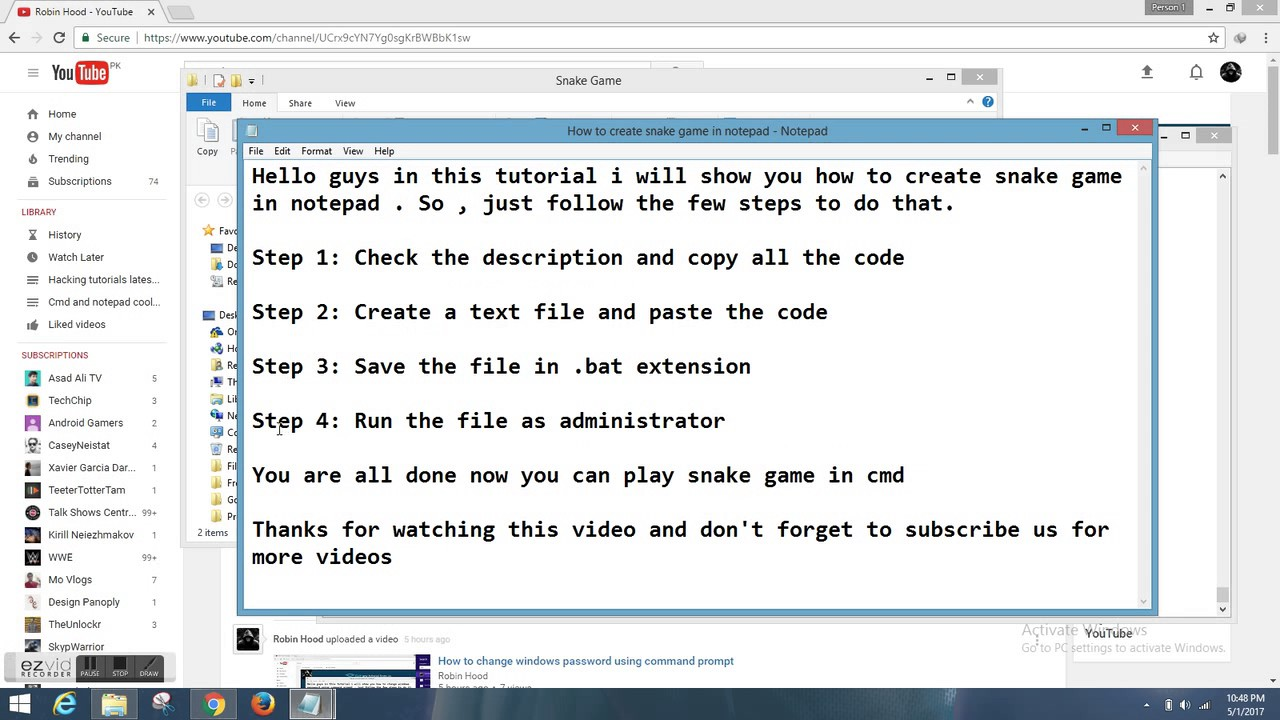 Notepad game code copy