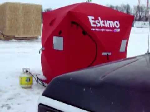 Ice Fishing Red River 2015