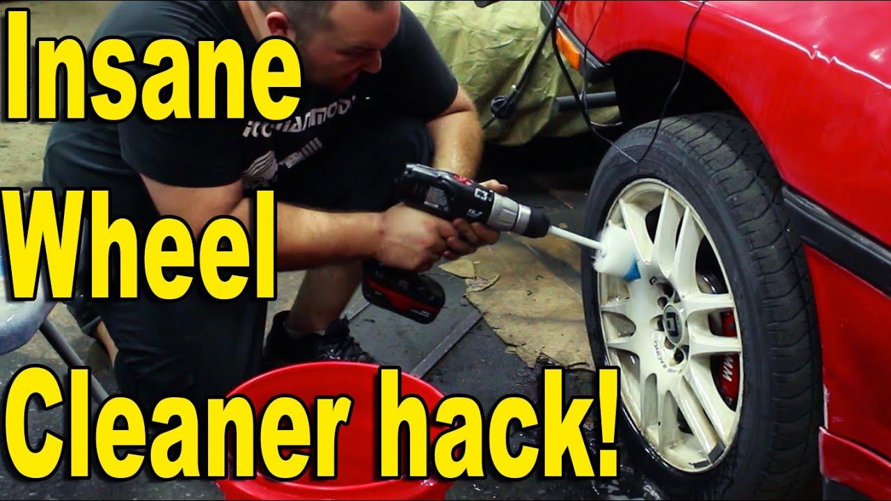 Garage Life Hack! Insane Wheel Cleaner