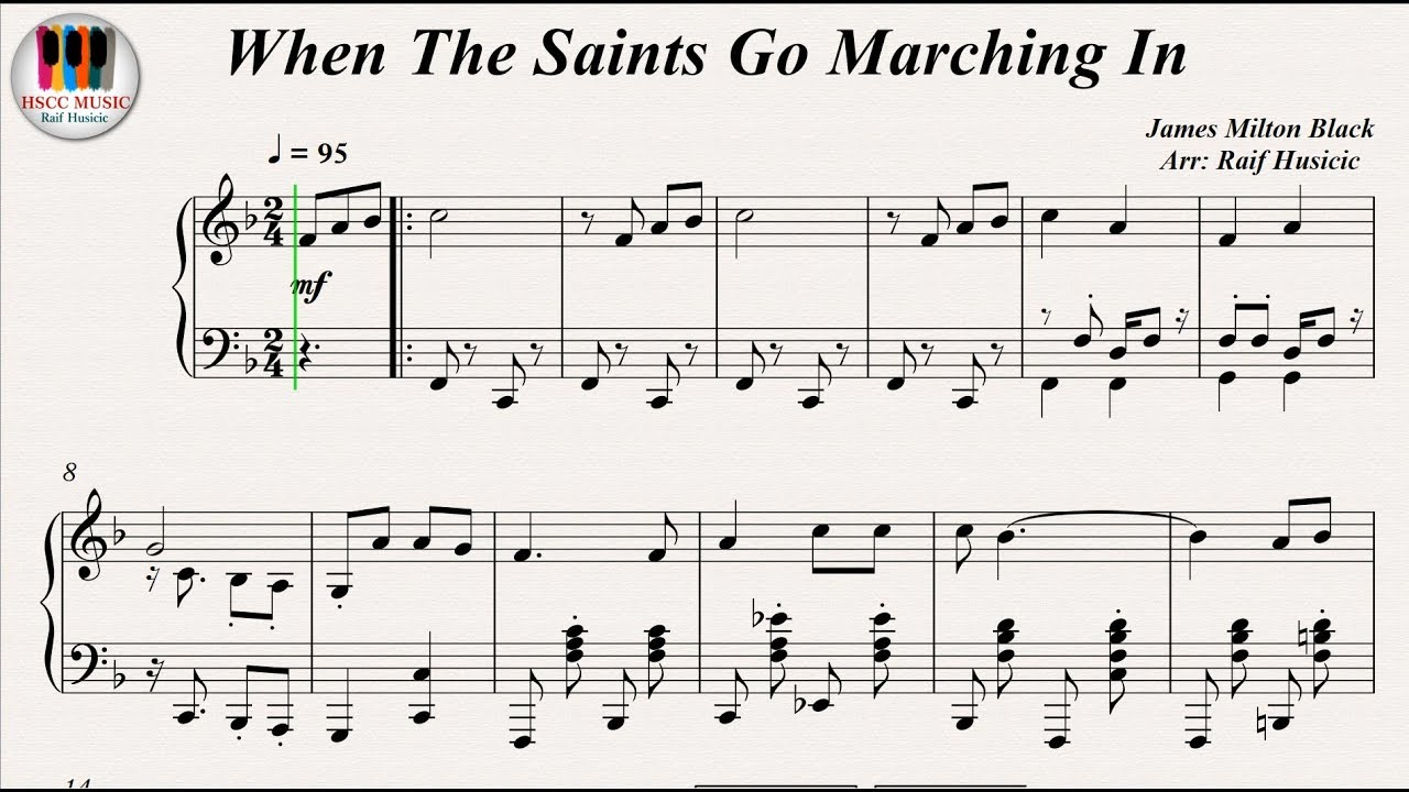 When The Saints Go Marching In - Louis Armstrong, Piano ...