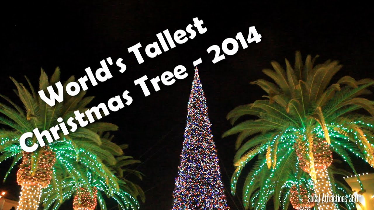 HD] Tallest Christmas Tree in the World 2014 - Citadel Outlets ...