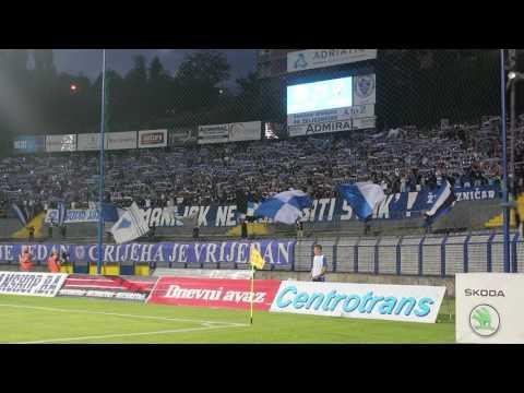 Manijaci pjevaju Grbavicu uoči utakmice s AIK-om
