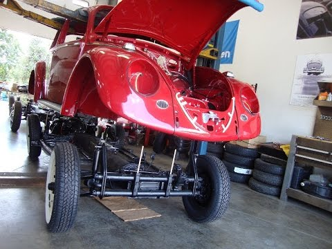 Classic VW BuGs How to Mount Beetle Body to Chassis '65 Build A BuG Project