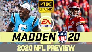 Carolina Panthers @ Kansas City Chiefs - NFL 2020 Week 9 - Madden Simulation - 4K