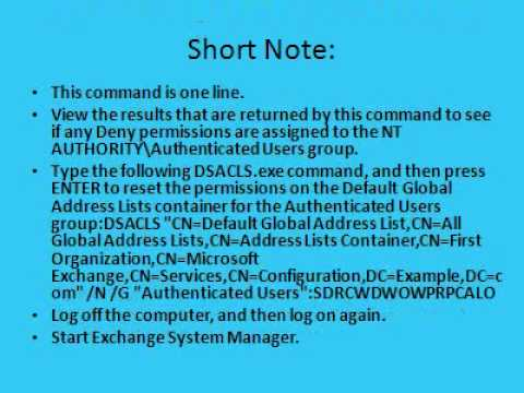 Retrieve Exchange Address Book