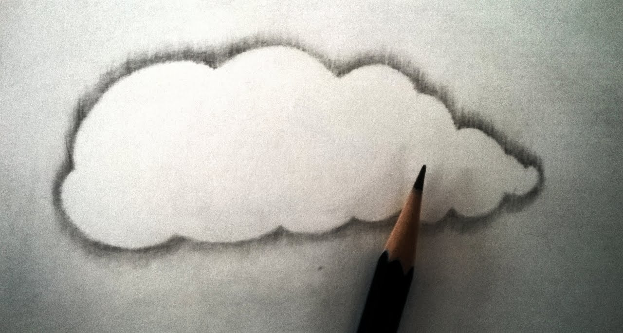 How to draw realistic clouds with pencil