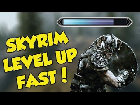 Skyrim EASY LEVEL UP FAST GLITCH!