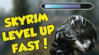 Skyrim Remastered EASY LEVEL UP FAST GLITCH!