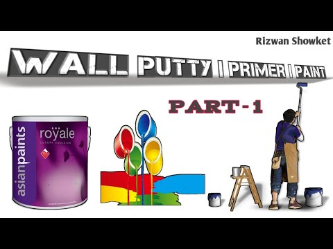 What Is Paint And It's Types || Wall Putty|| Primer|| Paint-P1
