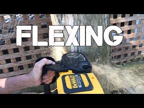 DeWALT FLEXVOLT 60V Outdoor Power Equipment - Blower, Trimmer And Chainsaw