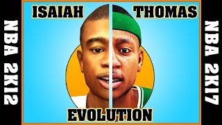 ISAIAH THOMAS evolution [NBA 2K12 - NBA 2K17] 🏀