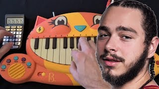 POST MALONE - BETTER NOW ON A CAT PIANO, A DOG AND A DRUM CALCULATOR Video