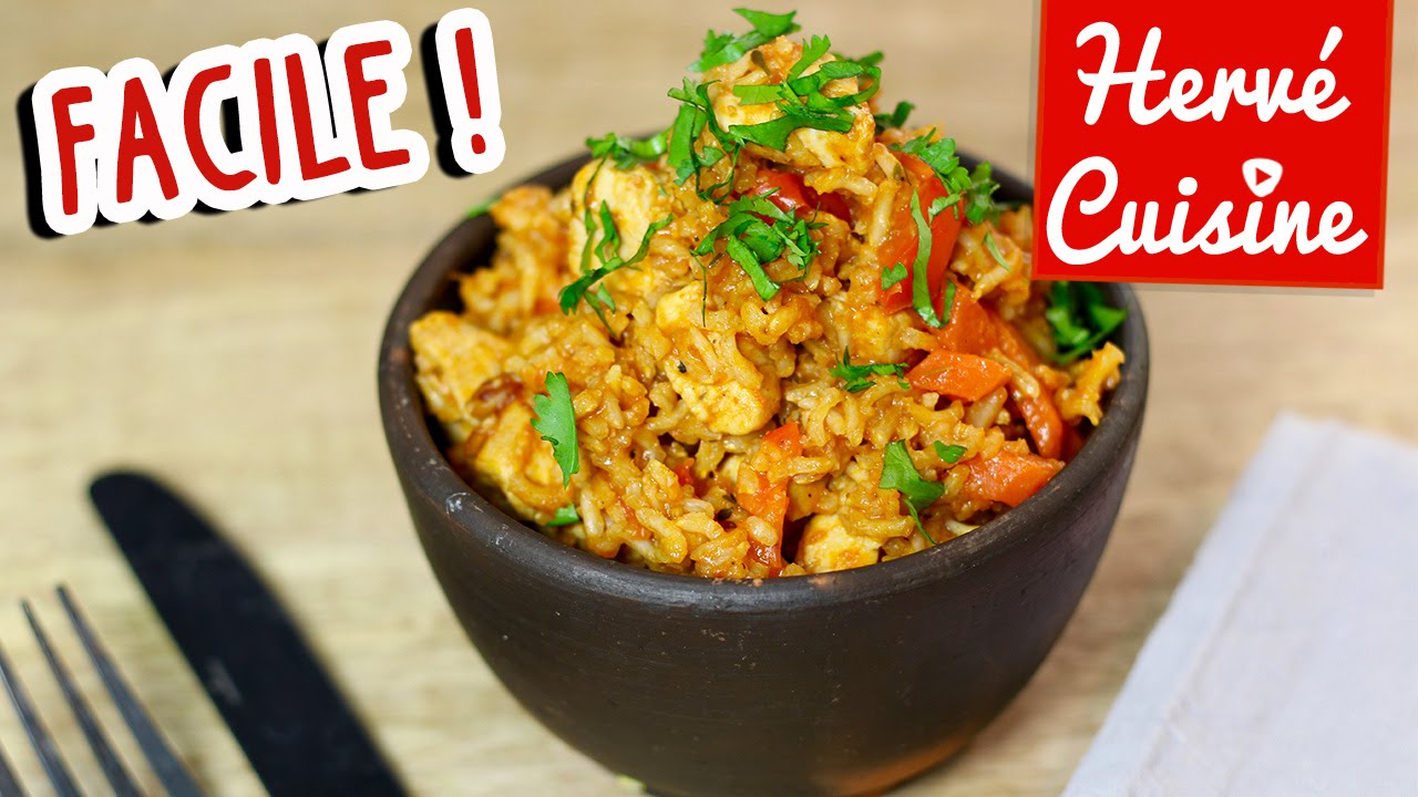 recette riz au poulet facile one pot chicken rice youtube. Black Bedroom Furniture Sets. Home Design Ideas