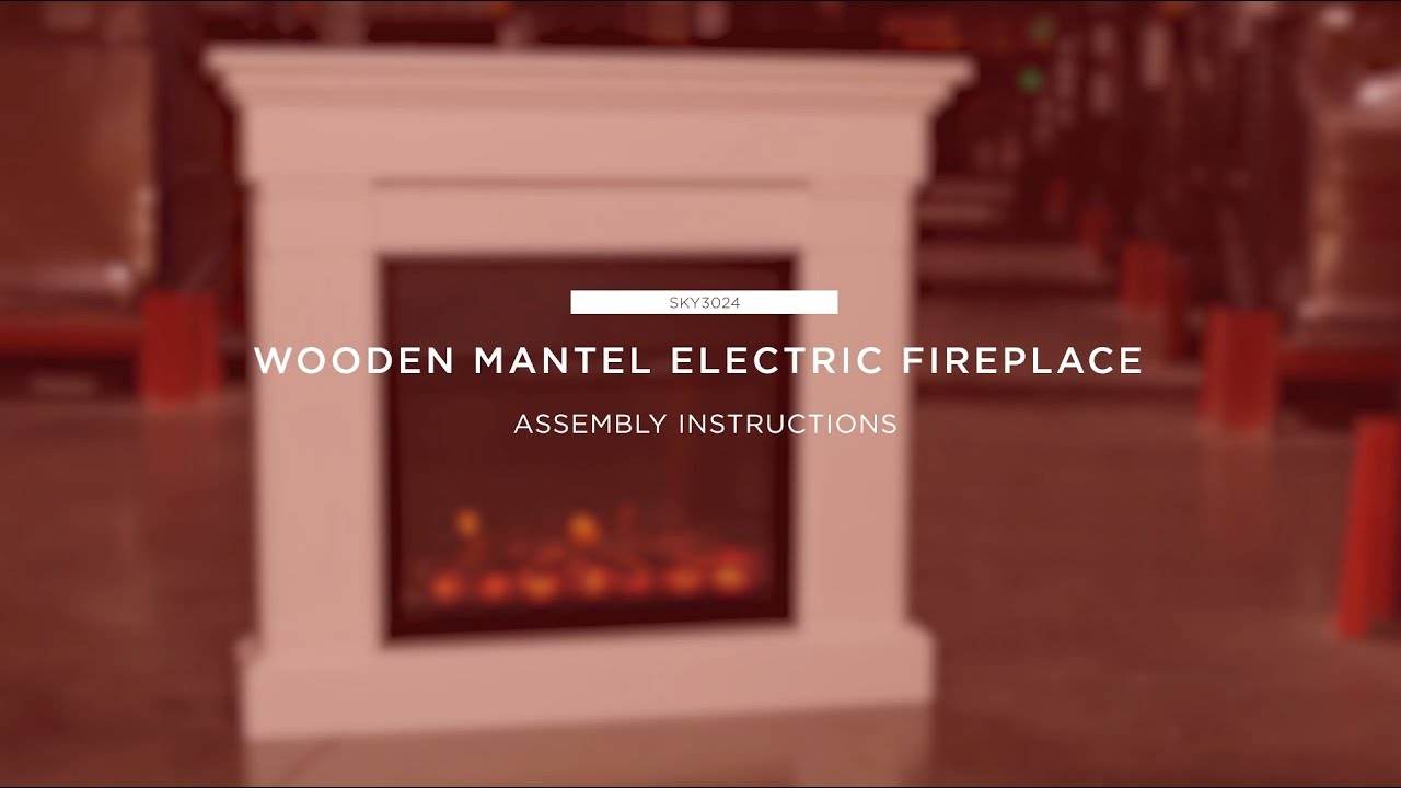 Artificial Fireplaces Assembly Wooden Mantel Electric Fireplace Sky3024