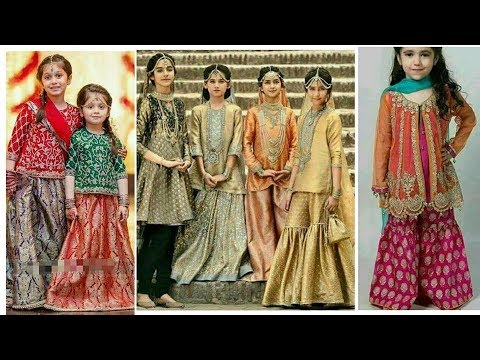 Latest Fancy Dress Designs For Baby Girls 2018/trendy And Stylish Kids Party Wear