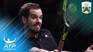 Gasquet and Chardy Advance in Style   2017 Rolex Paris Masters Highlights Day 1