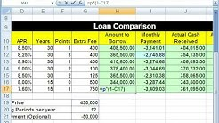 Highline Excel Class 49: Spreadsheet To Compare Loans