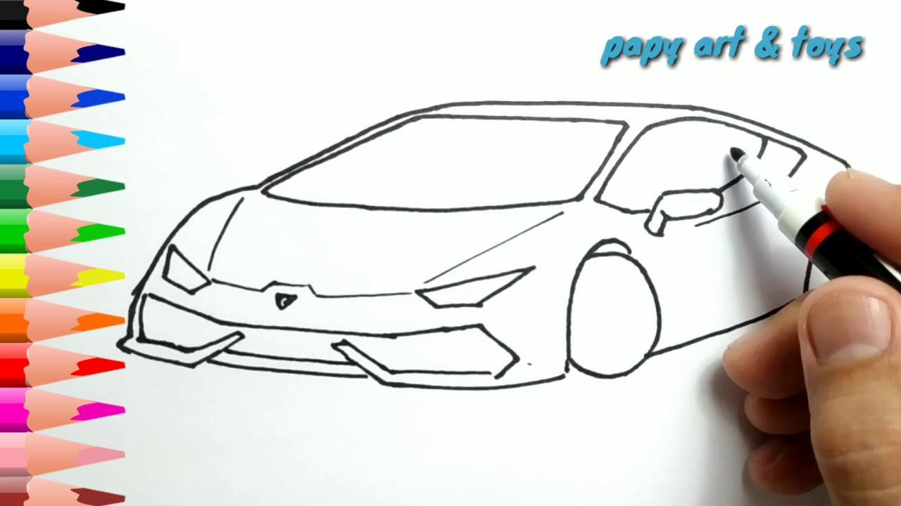 Ajaib Belajar Cara Menggambar Mobil Keren Mewarnai Kartun Dengan Mudah Anak Indonesia Menggambar Youtube