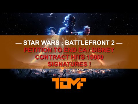 Petition to End EA/Disney Multi-Year Contract Hits 15,000 Signatures !!