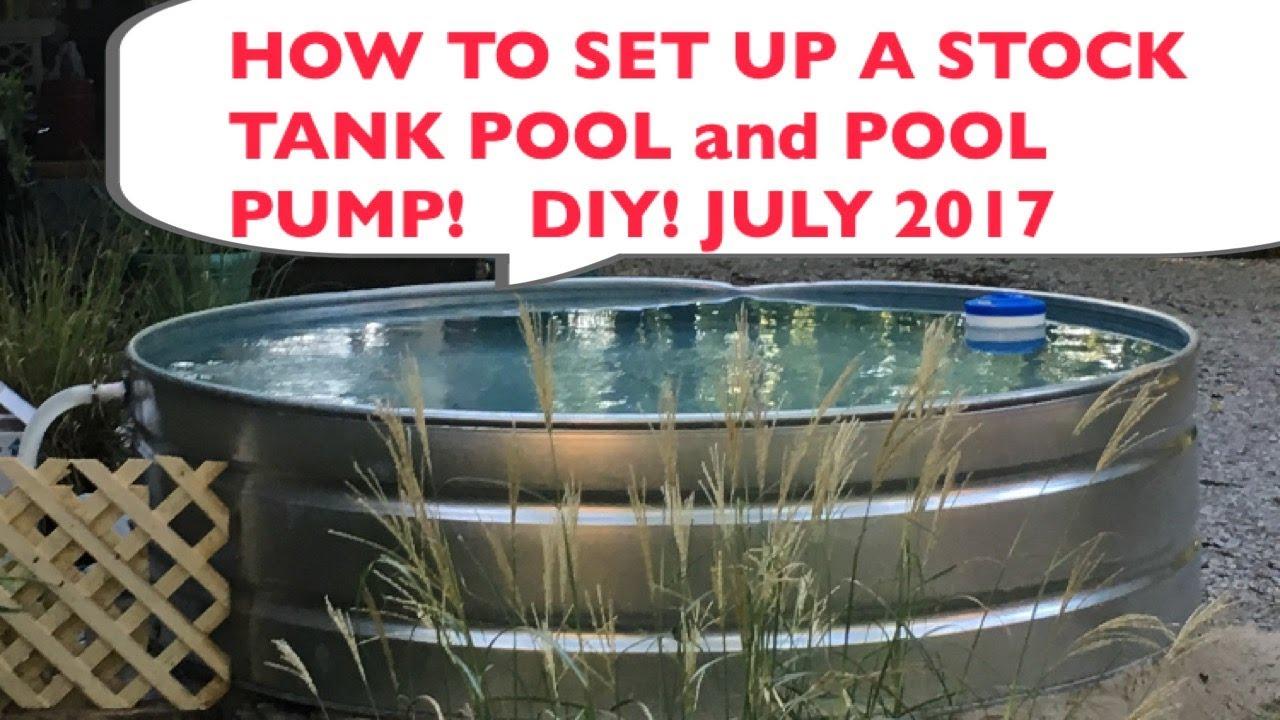 How To Set Up A Stock Tank Pool July 2017 Tartar Stock Tank Diy Youtube