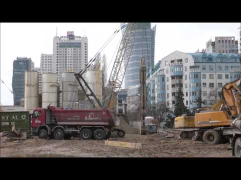 Warsaw in the development - They build tall skyscrapers. March 17, 2017