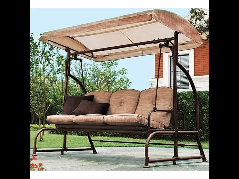 Home Trends Patio Swing Cushions, Seat Support And Canopy Fabric Replacement    YouTube