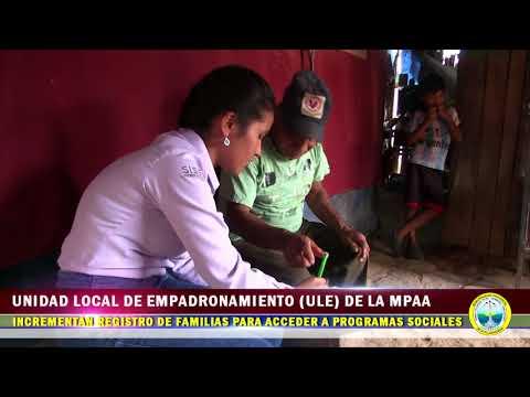INFORME UNIDAD LOCAL DE EMPADRONAMIENTO ULE DE LA MPAA INCREMENTA REGISTRO DE FAMILIAS PARA ACCEDER