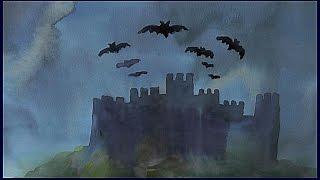 Уроки рисования. АКВАРЕЛЬ. 2 способы нарисовать небо+ рисуем замок(Как нарисовать небо акварелью ▻ Скачайте видео урок