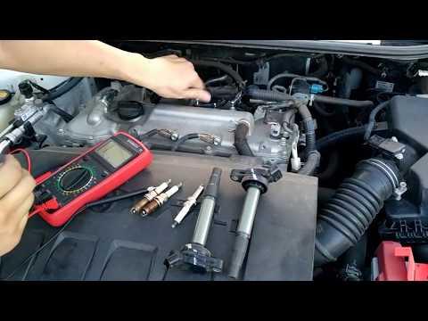 Тойота Королла. Замена свечей зажигания.Toyota Corolla E 160.