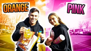 EATING ONLY ONE COLOR FOOD FOR 24HOURS CHALLENGE w/ My Girlfriend