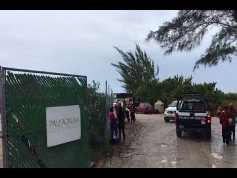 Registran derrumbe en el Palladium de Isla Blanca