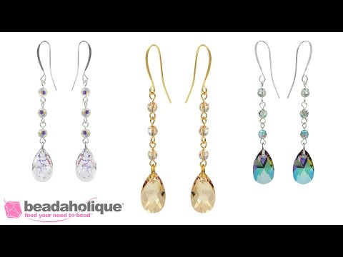 How to Make the Swarovski Drop Earrings Kit