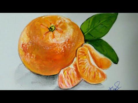 Paint An Orange Mandarin In Acrylic