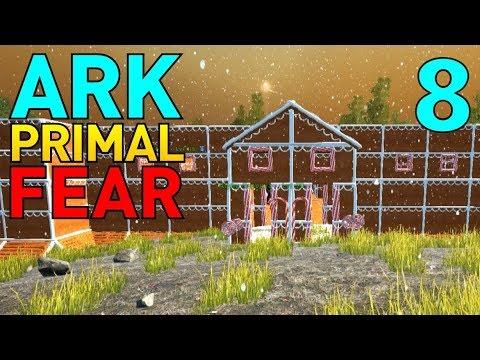 [8] Gingerbread Castle Base! (Let's Play ARK Primal Fear Multiplayer)