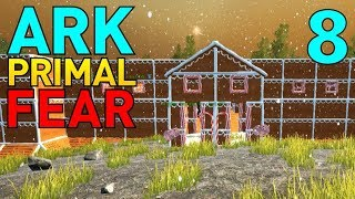 [8] Gingerbread Castle Base! (Let's Play ARK Primal Fear Multiplayer)