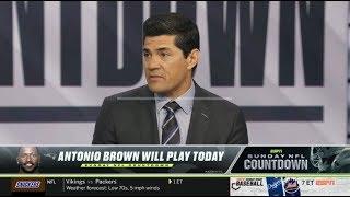 ESPN NFL Countdown | Patriots at Dolphins; Antonio Brown play today