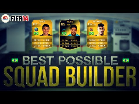 BEST POSSIBLE BRAZIL TEAM! w/ IF HULK AND NEYMAR | FIFA 14 Ultimate Team Squad Builder
