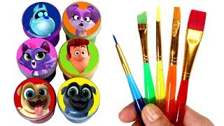 Puppy Dog Pals Drawing & Painting with Surprise Toys Bingo Rolly Hissy Bob ARF Rufus & Cupcake