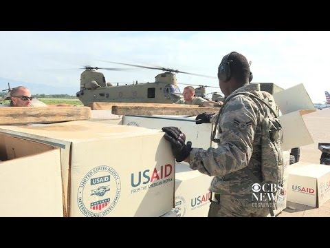 On the ground with U.S. military dispensing hurricane aid in Haiti