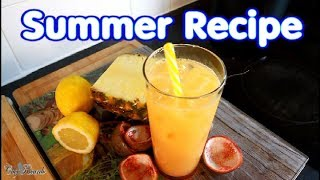 Fresh pineapple and passion fruits Ginger lemon syrup honey | Chef Ricardo Cooking