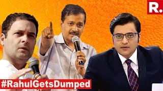 Open War Between Rahul Gandhi And Arvind Kejriwal Breaks Out   The Debate With Arnab Goswami