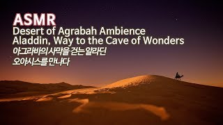 ASMR 아그라바의 사막을 걷는 알라딘, 오아시스를 만나다●알라딘 분위기의 음악과 환경음 | Aladdin, Desert of Agrabah Music & Ambience