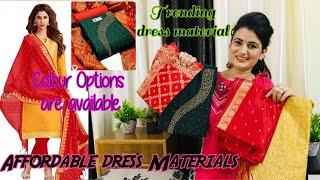 Amazon Haul 2020 Dress Material Review Affordable Unstitched Kurta Set Review