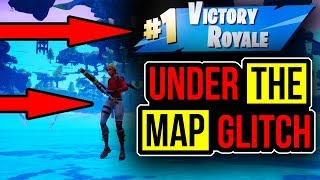 How To Get Under The Map Anywhere In Fortnite! Fortnite Glitches! Fortnite season 8 glitches