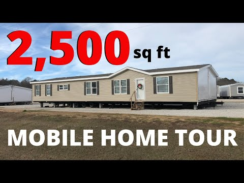 2,500 Sqft Cheap Double Wide Mobile Home. We Did This Mobile Home Tour Different.