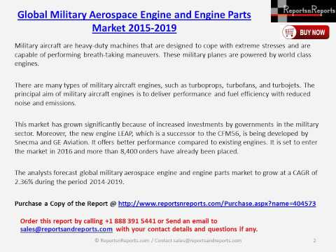 Global Military Aerospace Engine and Engine Parts Market 2015 2019